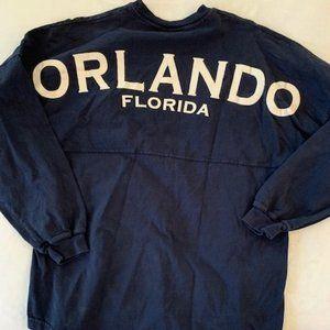 Orlando navy drop shoulder shirt L